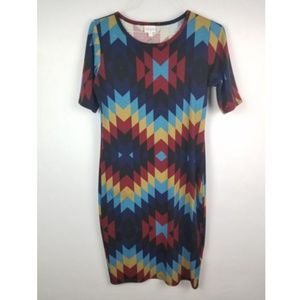 LuLaRoe Julia Aztec Print Stretch Dress